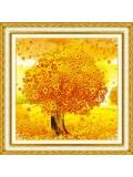"Р-111. 5D Картина из страз. денежное дерево"" 51х51 см"