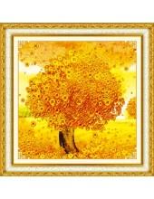 "Р-111. 5D Картина из страз. ""Денежное дерево""  51х51 см"