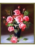 """О-301. 5D Картина из страз. """"Букет Роз"""" 61х76 см"""
