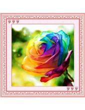"""О-302. 5D Картина из страз. """"Роза"""" 30х30 см"""