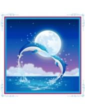 """С-401. 5D Картина из страз. """"Дельфины"""" 50х50 см"""
