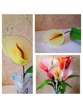 3002. 1 шт. Каллы. Одиночные цветы.