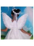 1 шт. Белый цвет.  Крылья ангела 60х50 см