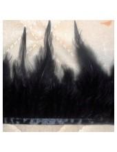1 м. Черный цвет. Тесьма. Перья петуха на ленте 6-11 см