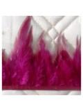 1 м. Бордо цвет. Тесьма. Перья петуха на ленте 6-11 см