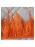 1 м.  Оранжевый  цвет. Тесьма. Перья петуха на ленте  6-11 см