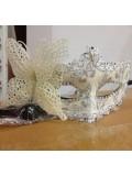Ш-1. Белый цвет. Маски для праздника с бабочкой