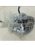Ш-4. Серебро цвет. Маски для праздника с бабочкой