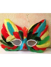 Д-1. Маски для праздника с перьями