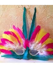 Н-1. Маски для праздника с перьями