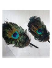 М-3. Павлин перья. Ободки для волос с перьями птиц