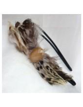 М-6. Ободки для волос с перьями птиц