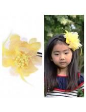 Д-1. Желтый цвет. Ободок с цветком для волос