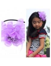 Д-4. Фиолетовый цвет. Ободок с цветком для волос