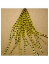 10 шт. Желтый цвет. Перо американского петуха 10-15 см. 2-х цветное