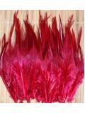 20 шт. Бордо цвет.  Перья петуха. Цветное 12-16 см