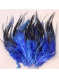 20 шт. Синий цвет. Перо петуха  11-15 см.  2-х цветное
