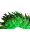 20 шт. Зеленый цвет. Перо петуха  11-15 см.  2-х цветное