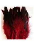 20 шт. Красный цвет. Перо петуха  2-х цветное 12-18 см