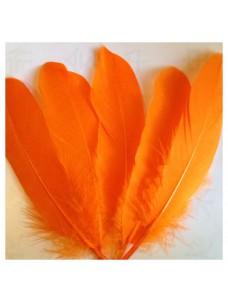 20 шт. Оранжевый цвет. Перо Петуха 15-20 см