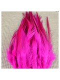 20 шт. Ярко-розовый цвет. Перья петуха 5-10 см. Цветные перья