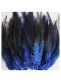 20 шт. Темно-синий цвет. Перья петуха 5-10 см. Цветные перья