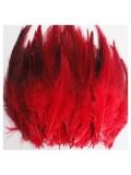 20 шт. Темно-красный цвет. Перья петуха 5-10 см. Цветные перья