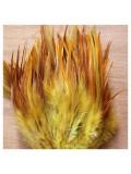 20 шт. Желто-коричневый цвет. Перья петуха 5-10 см. Цветные