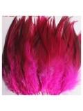 20 шт. Фуксия цвет. Перья петуха 5-10 см. Цветные перья