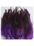 20 шт. Фиолетовый цвет. Перья петуха 5-10 см. Цветные перья