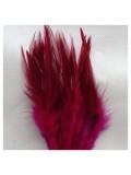 20 шт. Бордо цвет. Перья петуха 5-10 см. Цветные перья