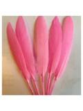 20 шт. Розовый цвет.Перо петуха 8-14 см