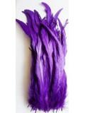 1 шт. Фиолетовый цвет. Перья петуха 25-35 см. Цветное