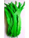 1 шт. Нефрит цвет. Перья петуха 25-35 см. Цветное
