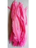 1 шт. Розовый цвет. Перья петуха 25-35 см. Цветное