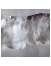 877. 0.5 м. Белый цвет. Плавающее перо на ленте 6 см.