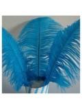 1 шт. Голубой цвет. Перья страуса 25-30 см