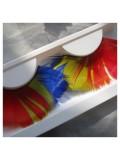 Ф-13. Микс цвет. Ресницы из перьев птицы