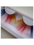 Ф-31. микс цвет. Ресницы из перьев птицы