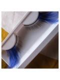Ф-33. Синий цвет. Ресницы из перьев птиц