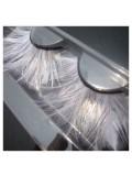 Ф-44. Белый цвет.  Ресницы из перьев птиц