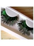 Ф-62. Зеленый цвет. Ресницы из перьев птиц