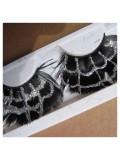 Ф-8. Черный цвет. Ресницы из перьев птицы