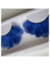 Ф-83. Синий цвет. Ресницы из перьев птиц