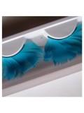 Ф-70. Голубой цвет. Ресницы из перьев птиц