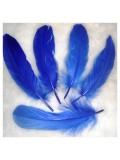 20 шт. Синий цвет. Перо Петуха 10-15 см
