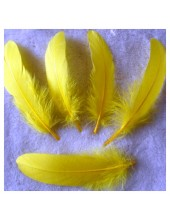 20 шт. Желтый цвет. Перо Петуха 10-15 см