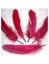 20 шт. Бордо цвет. Перо Петуха 10-15 см