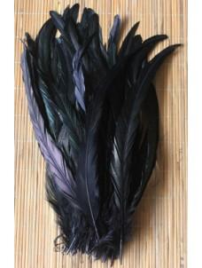 1 шт. Черный цвет. Перья петуха 25-35 см. 2-х цветное