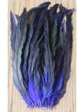 1 шт. Синий цвет. Перья петуха 25-35 см. 2-х цветное